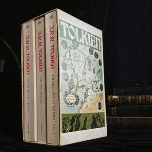 1971 vintage second edition J.R.R Tolkien trilogy